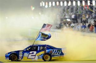 Brad Keselowski celebrates the 2012 championship. (John Harrelson/Getty Images)